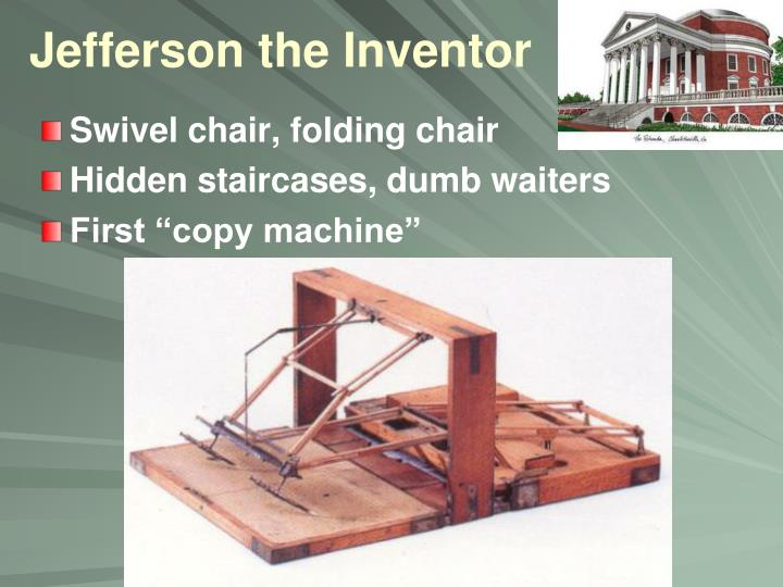 Jefferson the Inventor