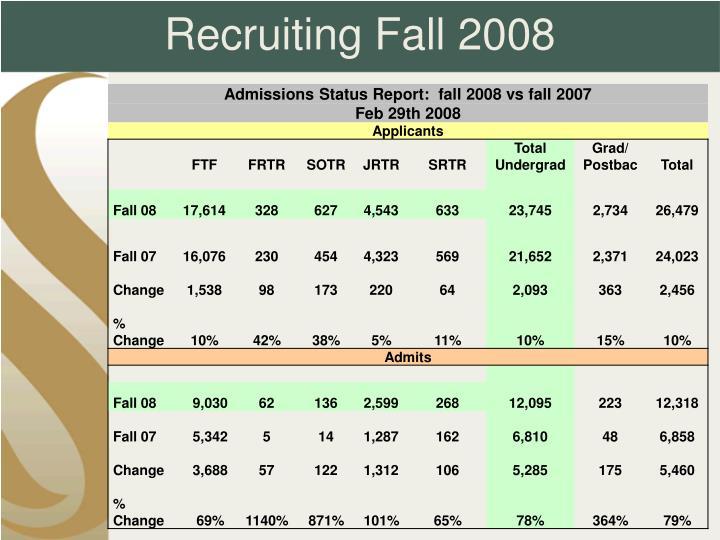 Recruiting Fall 2008