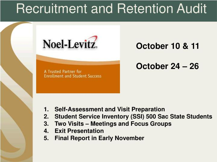 Recruitment and Retention Audit