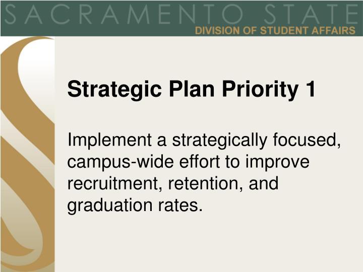 Strategic Plan Priority 1