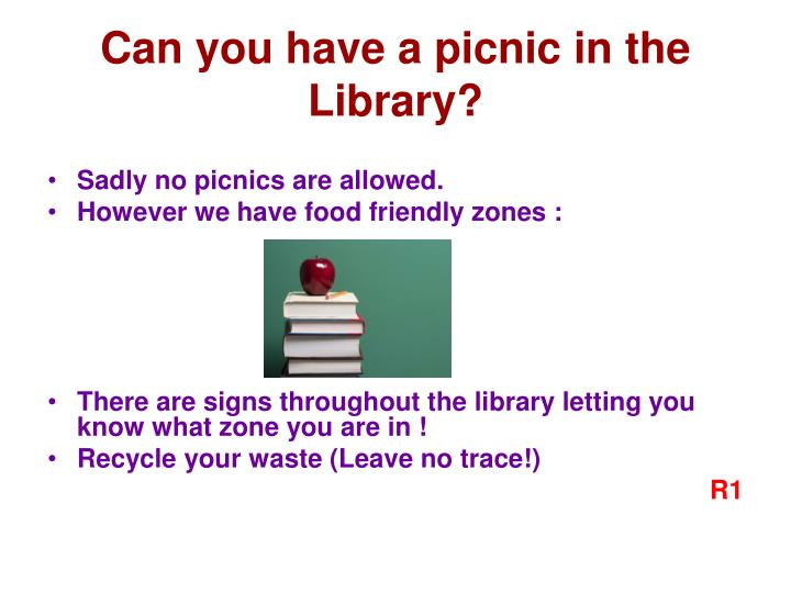 Can you have a picnic in the Library?