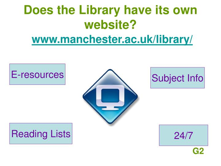 Does the Library have its own website?