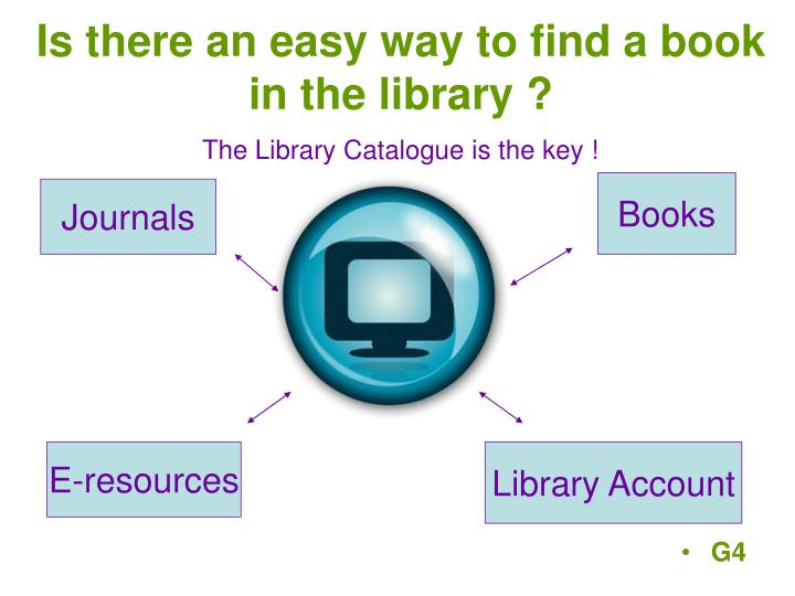 The Library Catalogue is the key !
