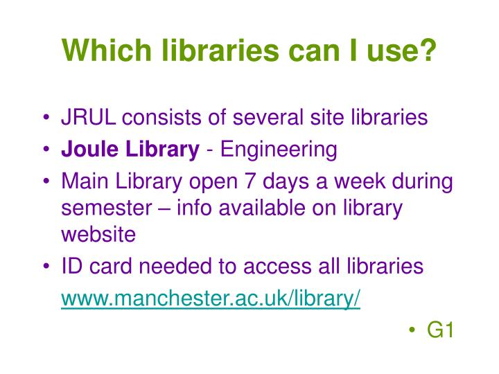 Which libraries can I use?