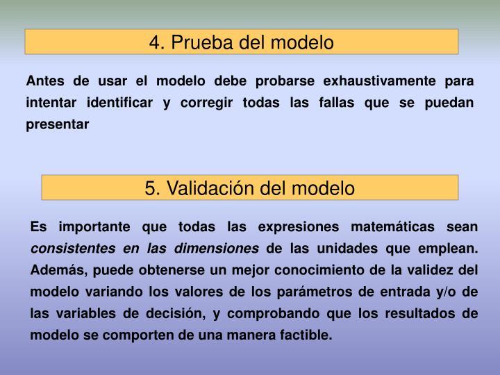 4. Prueba del modelo