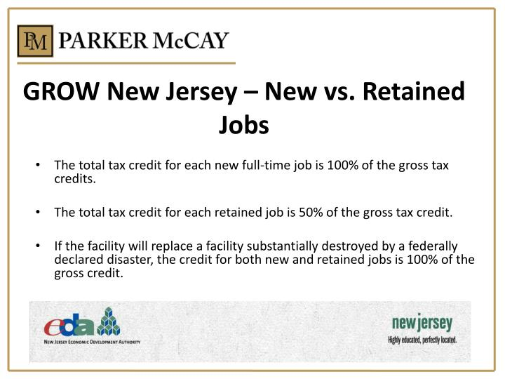 GROW New Jersey – New vs. Retained