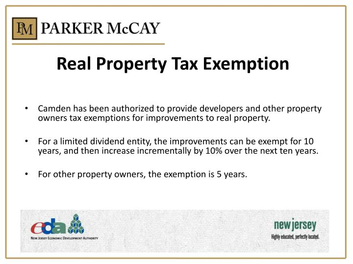 Real Property Tax Exemption
