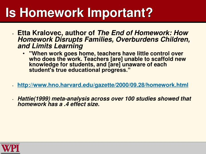 Is Homework Important?