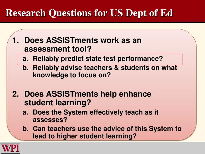 1.Does ASSISTments work as an assessment tool?