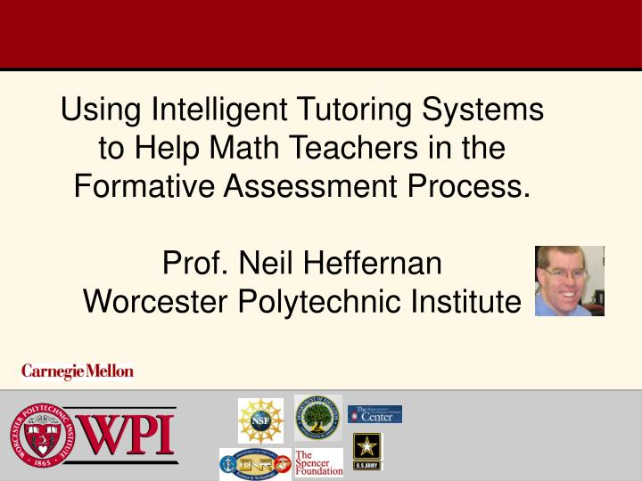 Using Intelligent Tutoring Systems to Help Math Teachers in the Formative Assessment Process.