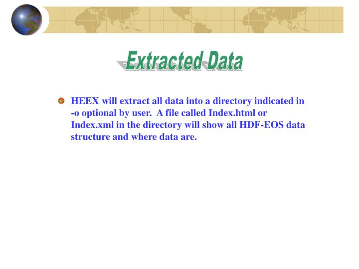 Extracted Data