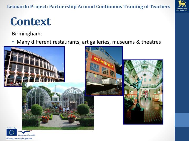 Leonardo Project: Partnership Around Continuous Training of Teachers