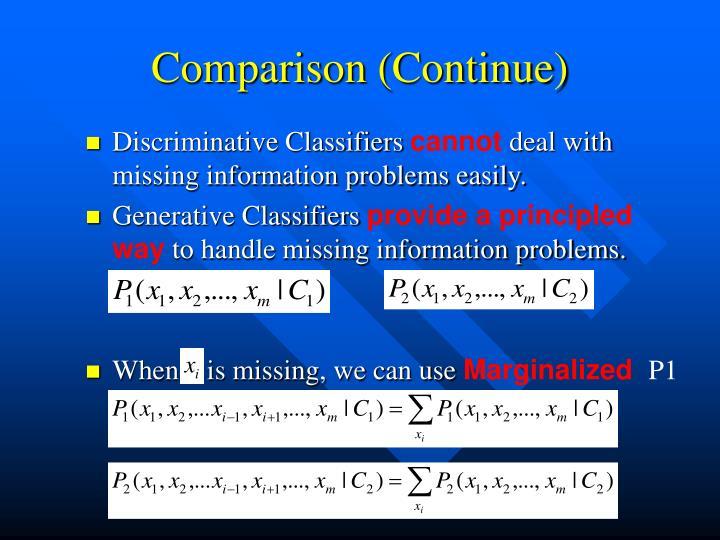 Comparison (Continue)