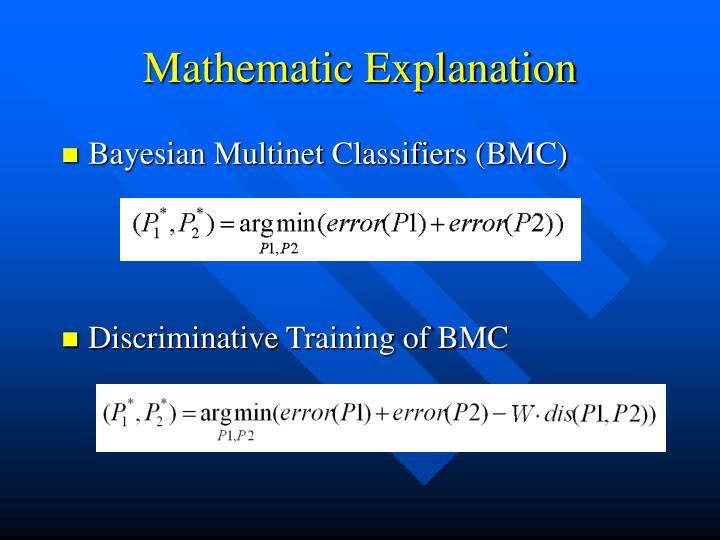 Mathematic Explanation