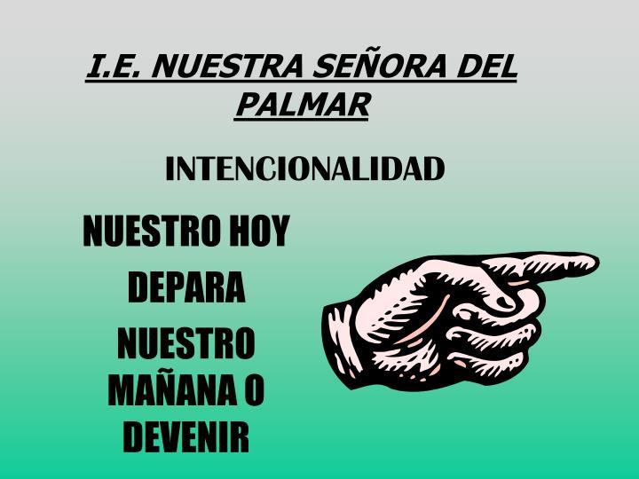 I.E. NUESTRA SEÑORA DEL PALMAR