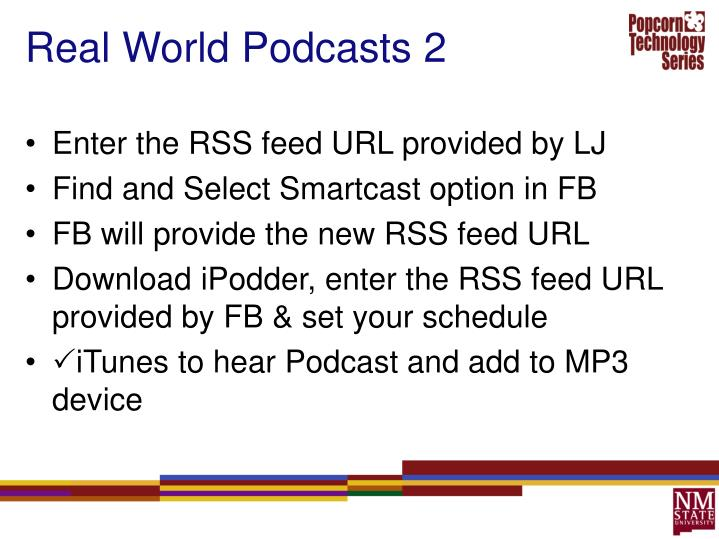 Real World Podcasts 2