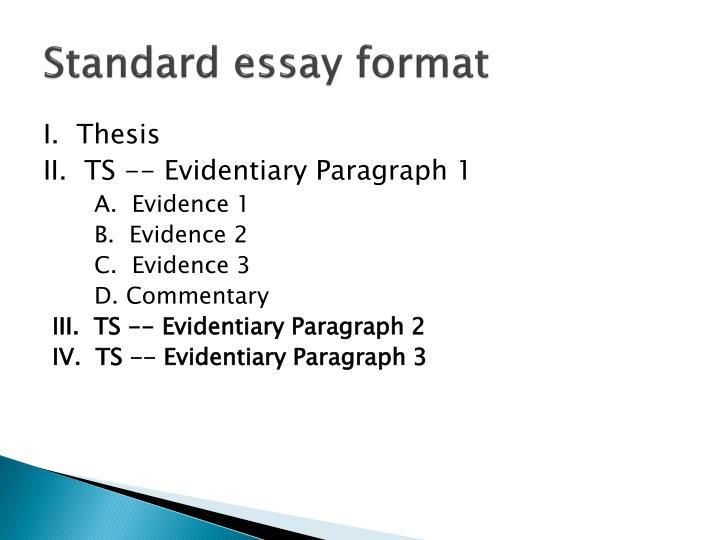 Standard essay format
