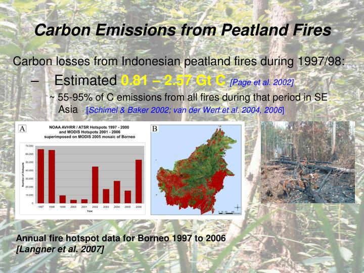Carbon Emissions from Peatland Fires