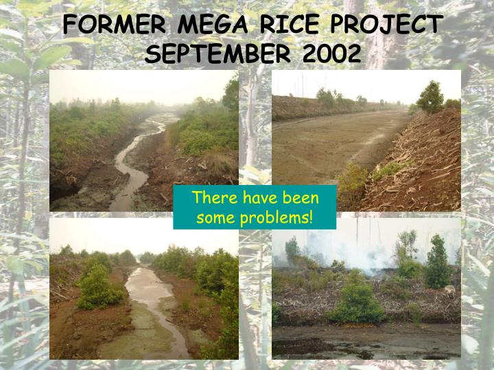 FORMER MEGA RICE PROJECT SEPTEMBER 2002