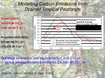 modelling carbon emissions from drained tropical peatlands
