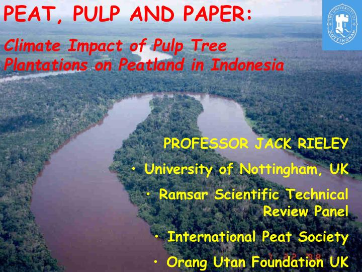 PEAT, PULP AND PAPER: