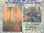 two years after mrp commenced 1997 el ni o promoted widespread forest fires