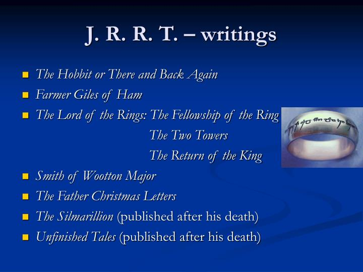 J. R. R. T. – writings
