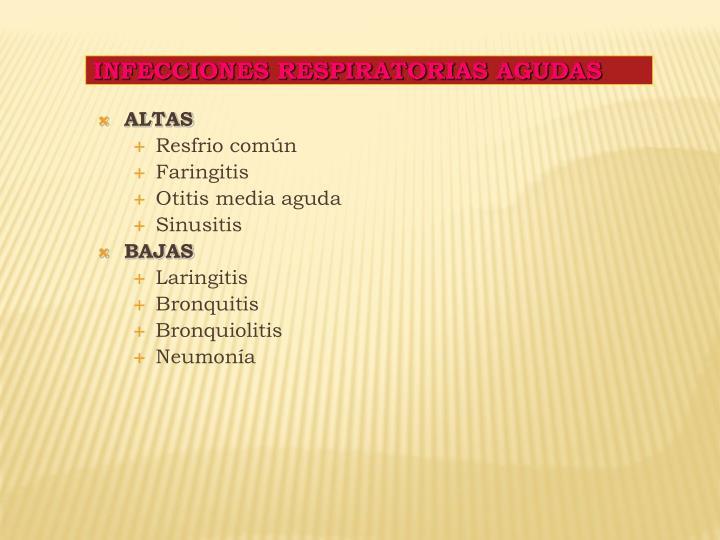 INFECCIONES RESPIRATORIAS AGUDAS