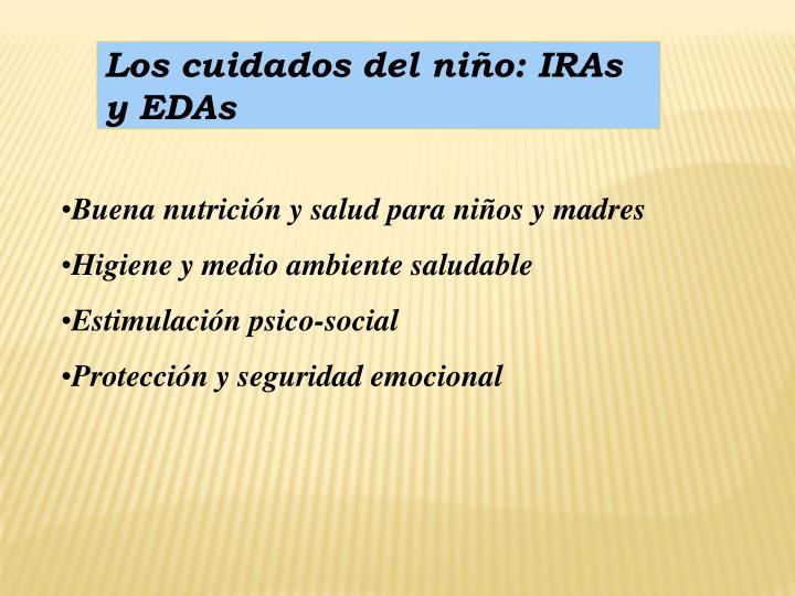 Los cuidados del niño: IRAs y EDAs