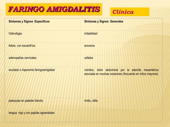Síntomas y Signos  Específicos