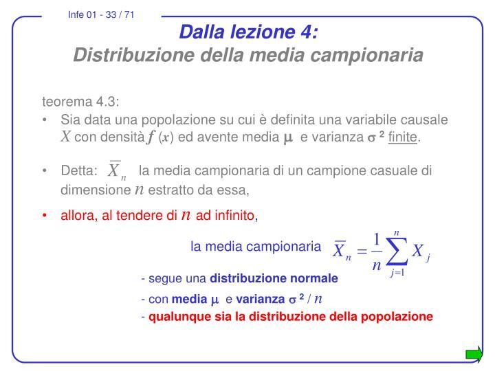 Dalla lezione 4: