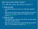 bi t h a ch n d ng t b o t c c d u n m ng c a t b o lympho t2