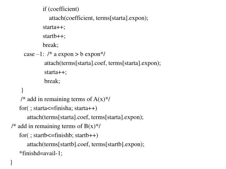 if (coefficient)