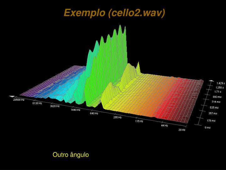 Exemplo (cello2.wav)