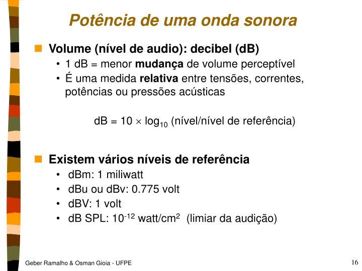Potência de uma onda sonora
