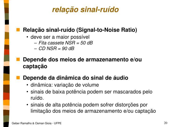 relação sinal-ruído
