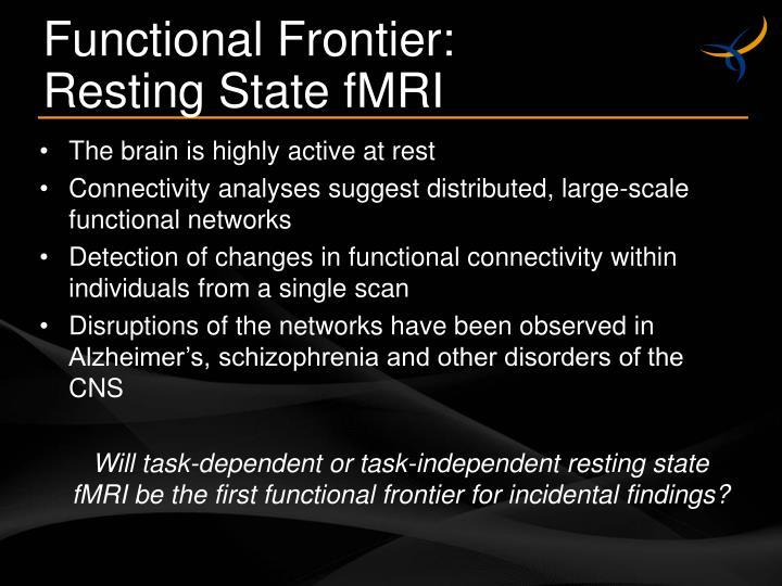 Functional Frontier:
