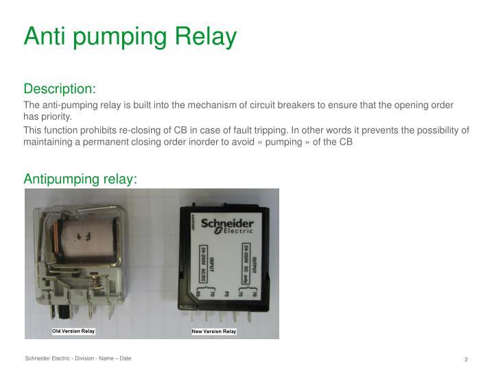 Anti pumping Relay