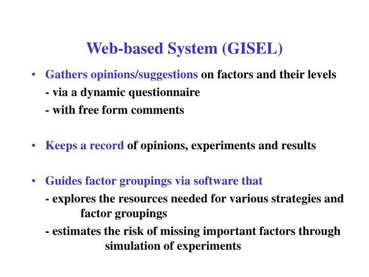 Web-based System (GISEL)