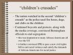 children s crusades