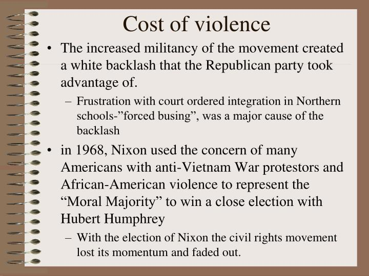 Cost of violence