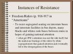 instances of resistance