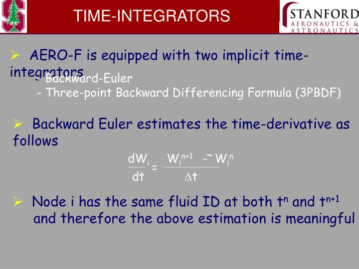 TIME-INTEGRATORS