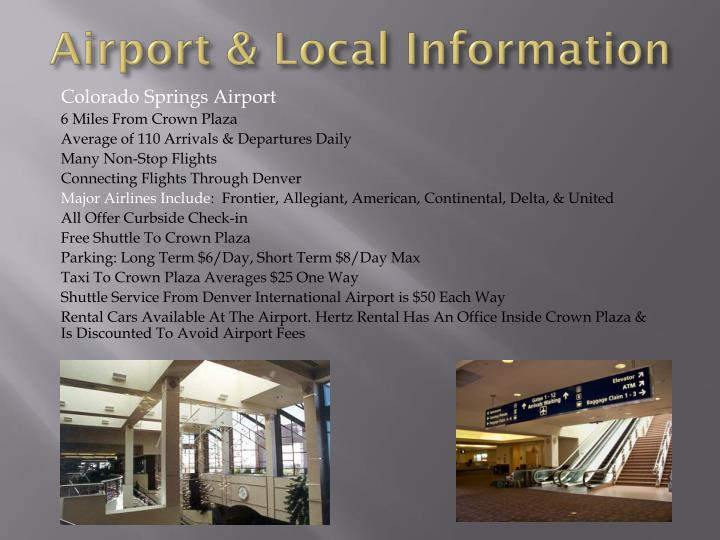 Airport & Local Information