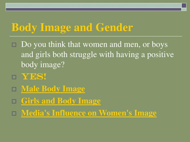 Body Image and Gender