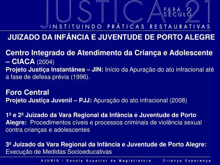 JUIZADO DA INFÂNCIA E JUVENTUDE DE PORTO ALEGRE