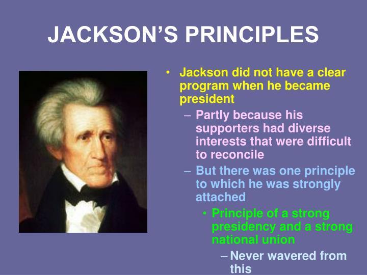 JACKSON'S PRINCIPLES