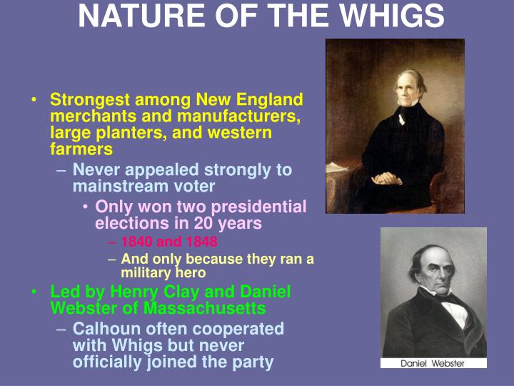NATURE OF THE WHIGS