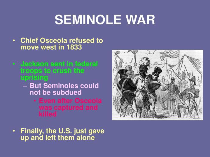 SEMINOLE WAR