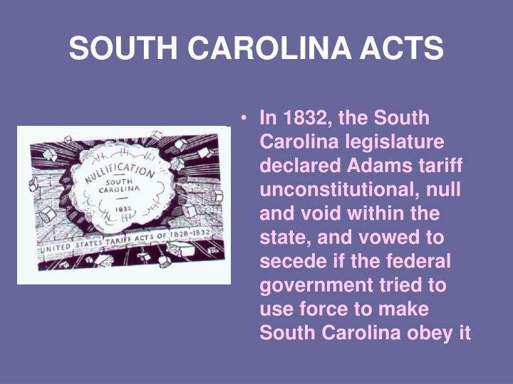 SOUTH CAROLINA ACTS